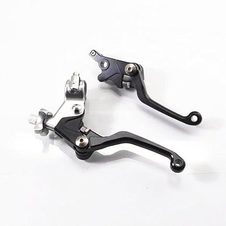 Negro freno palancas de embrague mano control para Honda CRF 450r 450 x 250R 250 x Custom: Amazon.es: Coche y moto