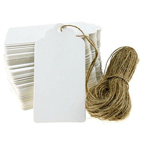 Pixnor 100pcs Kraft Strings Crafts