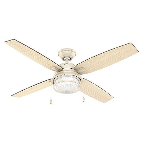 Hunter 59213 Casual Ocala Autumn Crème Ceiling Fan With Light, 52″
