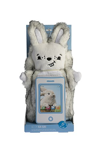 PawdPet Plush Protective Pals Bun Bun (Bunny) Large Magnetic Holder & Carrier for iPad Mini, iPhone, mobile devices, and tablets up to 8'' screen size