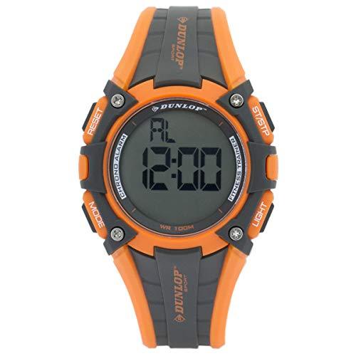 Dunlop Digital Watch Mens DUN245G08 Rubber Orange/Black Sport