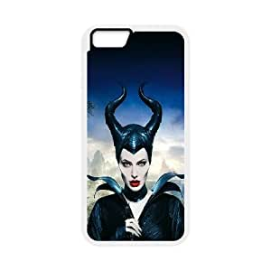 iPhone 6 Plus 5.5 Inch Cell Phone Case White ha30 angelina jolie maleficent poster disney face Xelfr