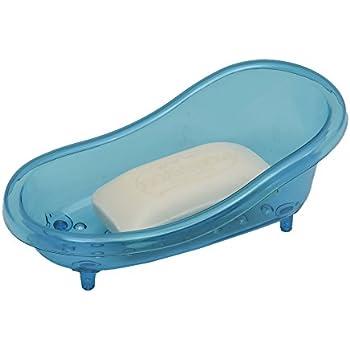 This Item EVIDECO Claw Foot Deco Bathtub Soap Dish EVE Clear Acrylic (Blue)