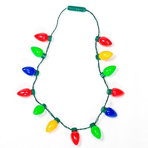 Gloworks Flashing Christmas Bulb Necklace product image