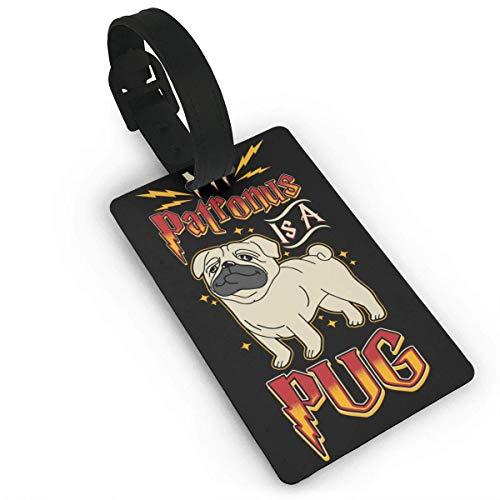 Beauregar My Patronus is A Pug Luggage Tags ID Tags Business Card Holder Nonslip Toilet Floor Mat 19.2″x15.7″