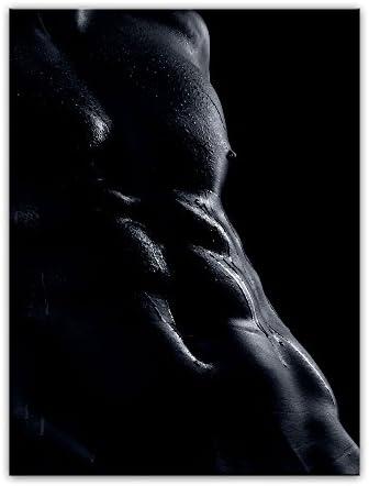 Bilderdepot24 Cuadros en Lienzo Hombre erotismo - Blanco y Negro - 50x70 cm 1 Pieza - Enmarcado Listo Bastidor Imagen. Directamente Desde el Fabricante: Amazon.es: Hogar