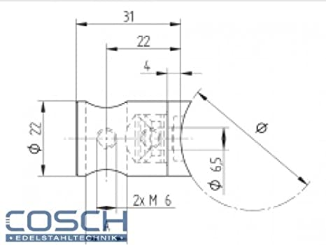 1 St/ück,CN1100100 CROSO Endkappe f/ür Nutrohr rund Durchmesser 42,4 x 1,5 mm,Edelstahl geschliffen V4A Rohr flach