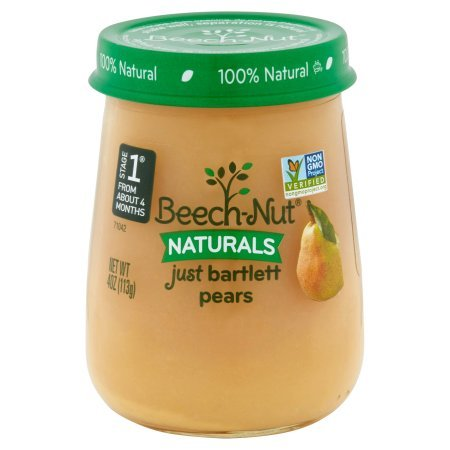 Beech-Nut Naturals Just Bartlett Pears, 4 oz, Pack of (Beech Nut Pears)