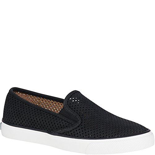 Sperry Top-Sider Women's Seaside Perfs Fashion Sneaker, Black, 10 M US by Sperry Top-Sider
