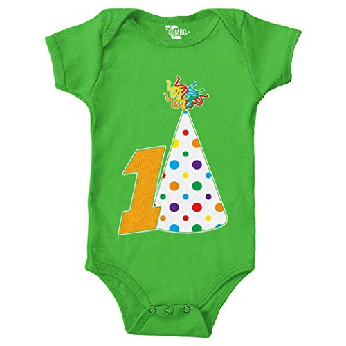 - First Birthday - One Year Old - Anniversary Bodysuit (Light Green, 18 Months)