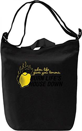 Burn Life's House Down Borsa Giornaliera Canvas Canvas Day Bag  100% Premium Cotton Canvas  DTG Printing 
