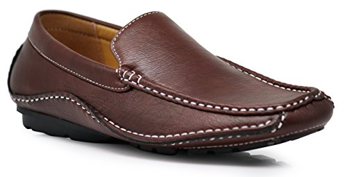 Classic Loafer Venetian Men's Brown Casual Driver CFORD Moccasin Weight Shoes Cruise Driving Light wqHXnnFxzY