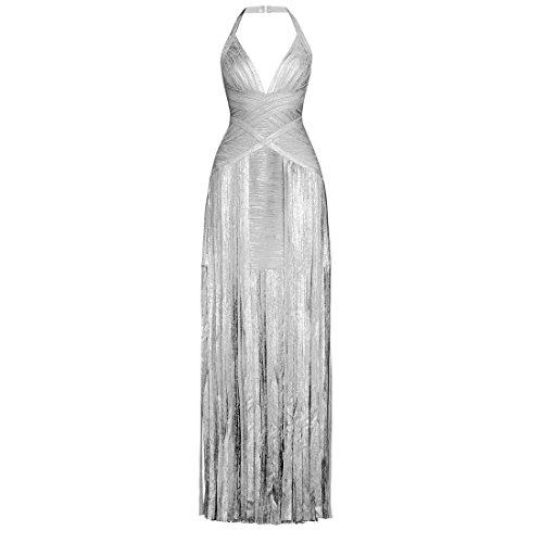 Silber Kleid gold HLBCBG XS Gold Damen xXqwS51