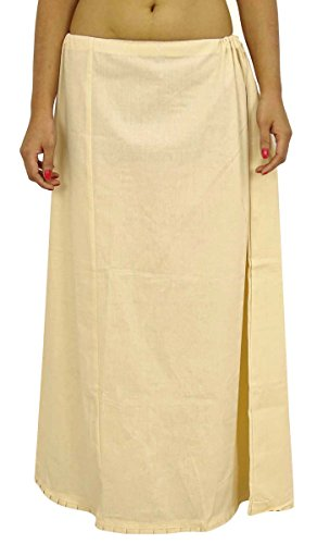 ibaexports Saree Petticoat Underskirt Cotton Bollywood Indian Lining For ()