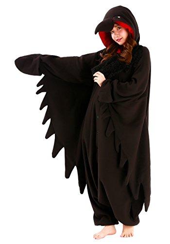 SAZAC Halloween Adults Kigurumi (Adults, Raven)