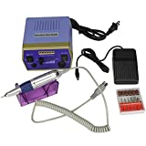 Blacgic Electric Nail Drill Machine Grinder Polisher Kit Nail File for Acrylics Nails Clippers Manicure Pedicure Professional Set for Glazing Gel Nail with Sanding Bands,Blue