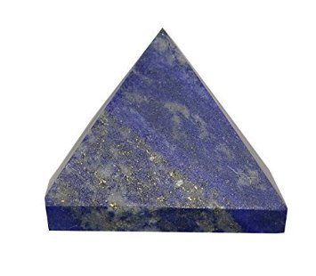 Cristaux de gu/érison Inde Pierre pr/écieuse naturelle Lapis Lazuli Pyramide spirituelle charg/é d/énergie P0620/ 1/pi/èce Bleu 40/–50/mm
