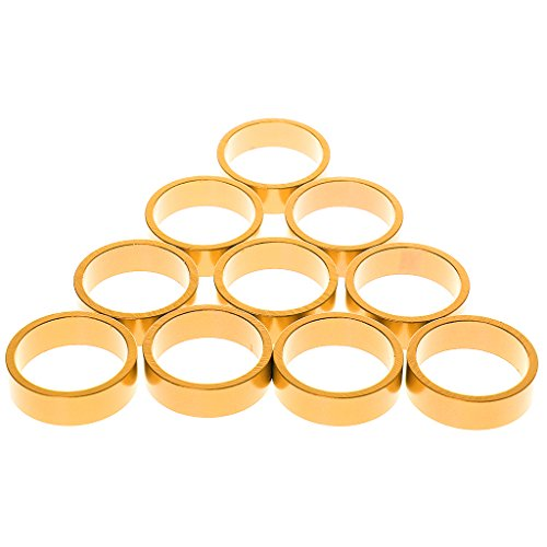 MagiDeal 10pcs Washers Headset Spacer Aluminum Alloy For 1-1/8