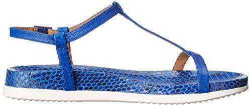 Calvin Klein Women's DOMA Flat Sandal Fearless Blue eO5Q1mu