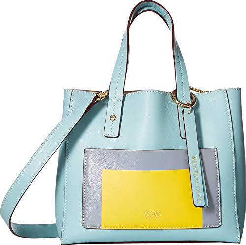 Frances Valentine Women's Small Chloe Tote, Light Blue/Multi, One Size ()