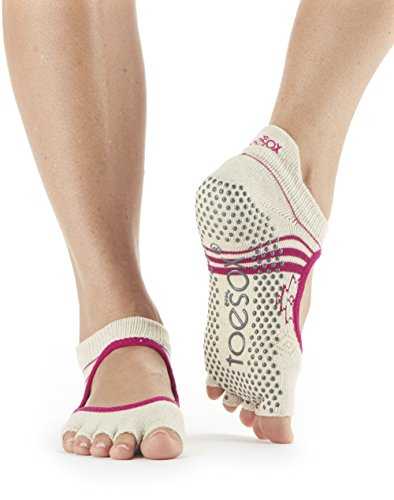 rina Half Toe Grip Non-Slip Socks (Ritual) Small (Organic Yoga Clothing)