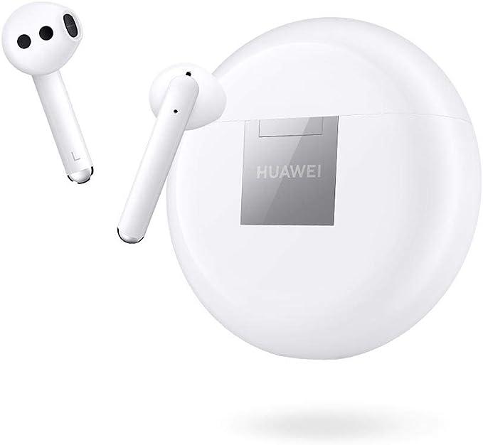 HUAWEI FreeBuds 3 Ecouteurs Sans-fil avec Réduction Active du Bruit (Bluetooth 5.0, Chargement Sans-fil, Processeur Kirin A1, Temps de Latence Ultra-faible, Autonomie Jusqu'à 20 Heures), Blanc
