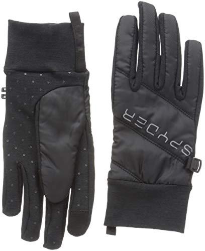 Spyder Women's Solitude Hybrid Glove, Black/Black/Black, Large