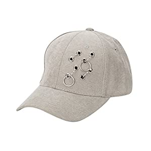 HongXander Unisex Fashion Baseball Cap Sport Sun Adjustable Hat (Gray)