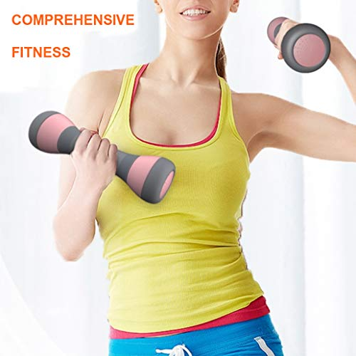 Adjustable-Dumbbells-Set-Weight-PairSet-of-2-Only-For-Women-5-Weight-Options-from-22-to-44-lbs-Non-Slip-Neoprene-Hand-Anti-Skidding-Dumbbells-for-Home-Workouts-Nice-looking-rubber-grip