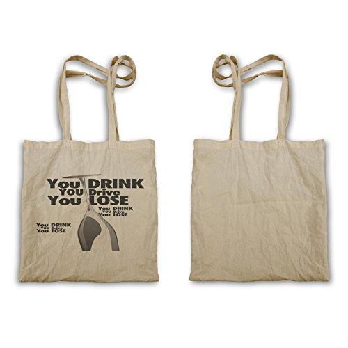 Trinken Sie nicht und treiben Sie Geschenk-Alkohol Tragetasche d557r