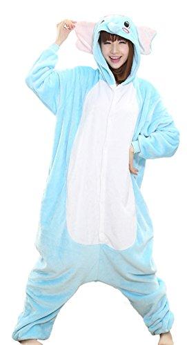 Nicetage Pajamas Costume Adult Onesie for Women Men Teens Animal Onsie Pjs Elephant -