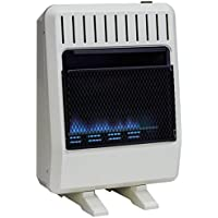 Avenger FDT20BF Dual Fuel Vent Free Blue Flame Heater, Thermostat, 20,000 BTU