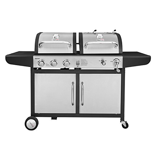 Hybrid Natural Gas Grill - Royal Gourmet ZH3002-S 3-Burner Gas Charcoal Grill Combo (Stainless Steel)