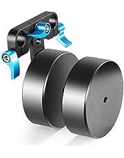 Neewer 10087920 - Contador Extraíble Aleación de Aluminio 2,1kg para Equilibrar el Estabilizador de Plataforma de Montaje en el Hombro, Compatible con Varillas 15mm, azul y negro