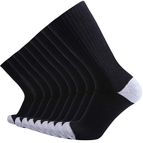 Enerwear 10P Pack Men's Cotton Moisture Wicking Extra Heavy Cushion