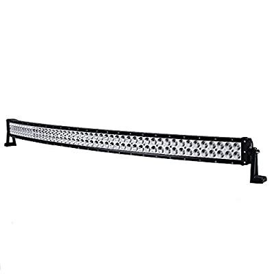 """52"""" 500W Curved LED Work Light Bar Spot Flood 4WD Boat Driving Truck Offroad US"""
