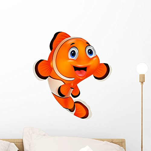 - Wallmonkeys Cartoon Clown Fish Wall Decal Peel and Stick Animal Graphics (18 in H x 16 in W) WM368789