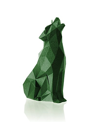 Candellana Candles Wolf, Green Metallic by Candellana Candles