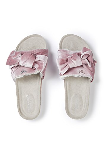 You Sandal Pretty Pink Bow Velour Footbed P6w8Sq7Bxz