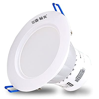 Splindg Super Bright Round LED Ceiling Light Energy Saving 5W 7W 12W Anti-Fog Recessed Downlight Aluminum Alloy Spotlight Home Commercial Lighting