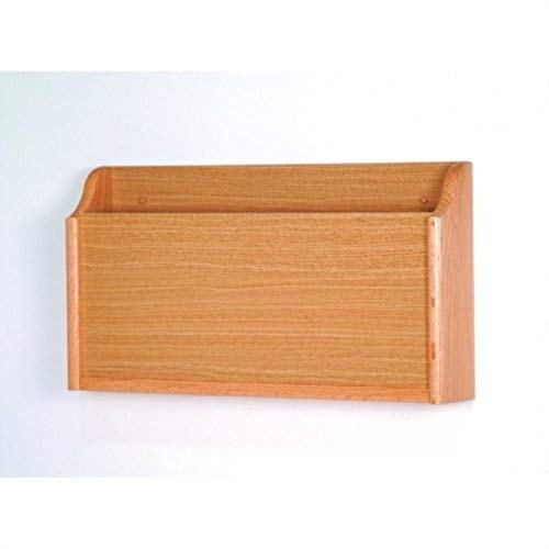 Wooden Mallet X-Ray Wall Pocket, Light Oak - Oak Wall Magazine Holder