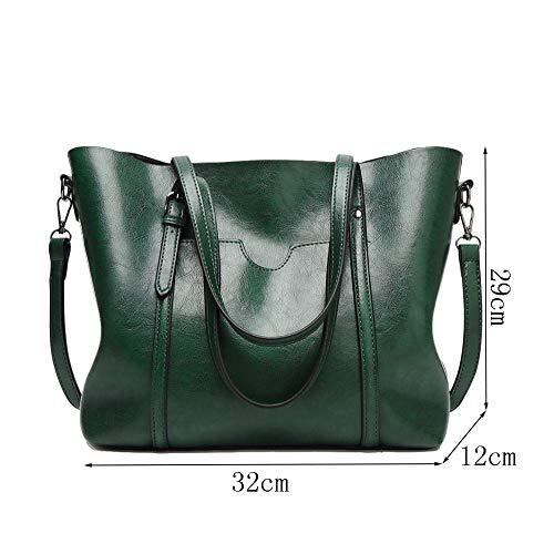 Green Femmes Carrées à Fourre Sacs élégantes Sac Loisirs Multifonctions Haute Sacs Rivet Capacité Mode tout Pochettes Main wWHqaH0En