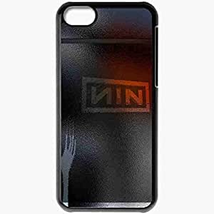 Personalized iPhone 5C Cell phone Case/Cover Skin Nine Inch Nails 6 Music Black