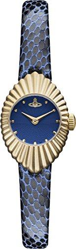 Vivienne Westwood Women's VV096NVNV Concertina Analog Display Swiss Quartz Blue Watch