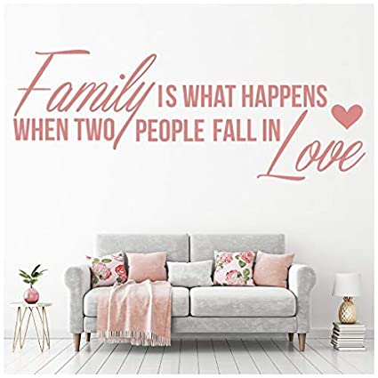 Amazon com: banytree Fall in Love Wall Sticker Family Quote