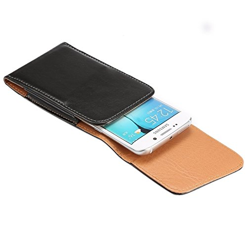 DFV mobile - Magnetic leather Holster Executive Case belt Clip Rotary 360º for =>      APPLE IPHONE 5 / 5S > Black