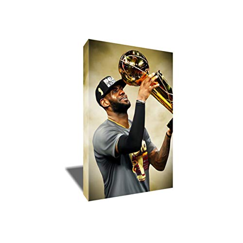 - Lebron James Delivers Cleveland's First Poster Photo Painting Artwork on Canvas Wall Art Print (12x18 inches)