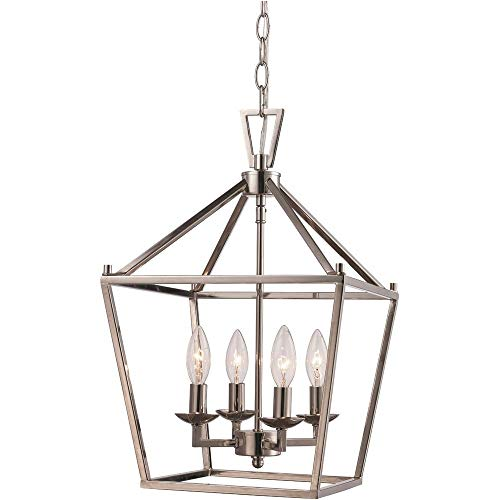 (Trans Globe 10264 PC Lacey - Four Light Pendant, Polished Chrome Finish)