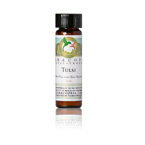 Tulsi Essential Oil (Holy Basil Essential Oil) 1/2 oz (15 ml) by Floracopeia