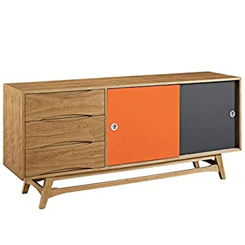 Amazon Com Modway Concourse Flat Screen Tv Stand Credenza